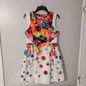 Multi-colored Flower Dress